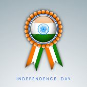 Indian Independence Day badge in national flag tricolors.