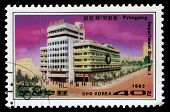 KOREA - CIRCA 1983: A stamp printed in Korea shows Department Store No.1 in Pyongyang, circa 1983