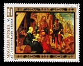 HUNGARY - CIRCA 1978: A stamp printed in Hungary, shows a picture of artist Albrecht Durer