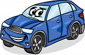 Suv Car Character Cartoon Illustration
