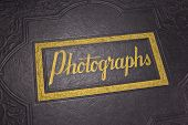 stock photo of leather-bound  - A Wonderful Old Leather Bound Photograph Album - JPG