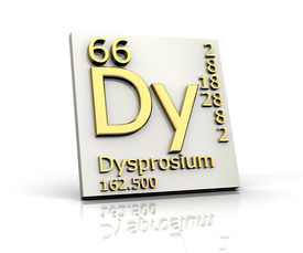 picture of periodic table elements  - Dysprosium form Periodic Table of Elements  - JPG