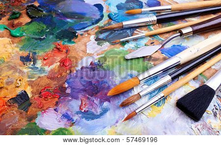 Постер, плакат: Artists Brushes, холст на подрамнике