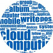 Cloud Computing Word, Business Concept