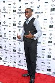 Demetrius Parker at a screening of