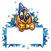 Clown Whit Banner On Star
