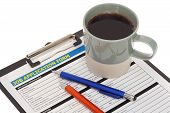 Job Application Form With Coffee Cup