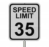 Speed Limit 35 Sign