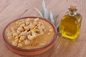 picture of tripe  - tripe stew with chickpeas in clay pot - JPG