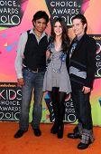 M. Night Shyamalan, Nicola Peltz, Jackson Rathbone  at the Nickelodeon's 23rd Annual Kids' Choice Awards, UCLA's Pauley Pavilion, Westwood, CA 03-27-10