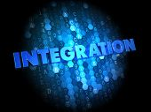 Integration on Dark Digital Background.