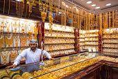 DUBAI, UAE - MARCH 31: Gold on the famous