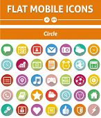 Flat Mobile Icons - Circle Version