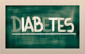 foto of diabetes symptoms  - Concept Handwritten With Chalk On A Blackboard - JPG