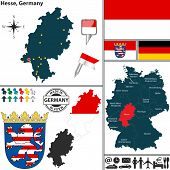 Map Of Hesse, Germany