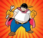 Trabalhador de super herói