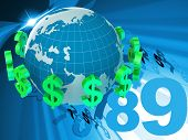 Forex Dollars Represents Foreign Currency And Bank