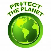 Protect World Indicates Planet Worldwide And Globalization