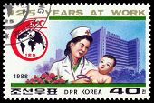 Vintage  Postage Stamp. Baby Physician And Child.