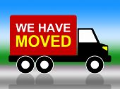 Moving House Represents Change Of Residence And Lorry