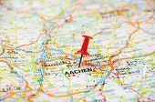 Aachen , Belgium Pin  Map
