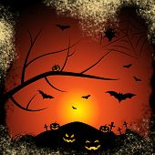Halloween Bats Represents Trick Or Treat And Autumn