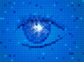 Background Blue Means Human Eye And Design
