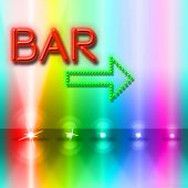 Bar Spotlight Shows Traditional Pub And Beam