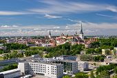 Panoramic View Of Old City Of Tallinn