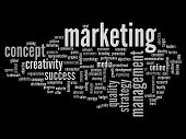 High resolution concept or conceptual abstract white marketing or business word cloud or wordcloud i