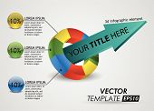 3d element infographic / vector template