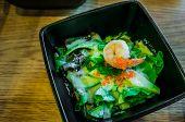 Salad With Avocado And Fresh Shrimp