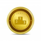 Score Board Circular Vector Gold Web Icon Button