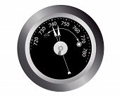 picture of barometer  - barometer readings for atmospheric pressure on a white background - JPG