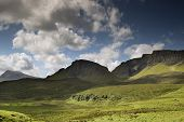 Beautiful Quiraing Range Of Mountains In Isle Of Skye, Scotland