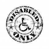 Постер, плакат: Disabled only grunge rubber stamp