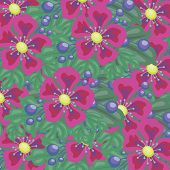 Bright floral background for your use