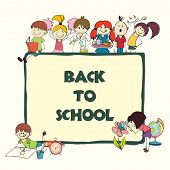 Kids school sketch banner