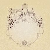 Sketch castle background