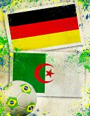 Germany vs Algeria soccer ball concept