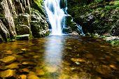 Poland. The Karkonosze National Park (biosphere Reserve) - Kamienczyk Waterfall