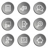 Shopping web icon set 3 , grey stickers set