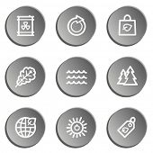 Ecology web icon set 3, grey stickers set