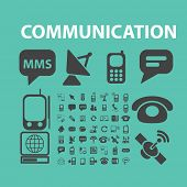 communication, connection, phone, network, phone icons, signs set, vector
