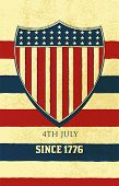 Vector. American background of Independence Day.