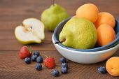 Apricot, Blueberry And Pear