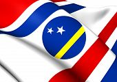 stock photo of curacao  - Governor of Curacao 3D Flag - JPG