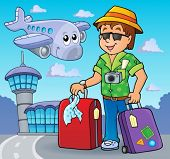 Travel thematics image 2 - eps10 vector illustration.