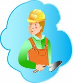 Skills Builder profession on blue background