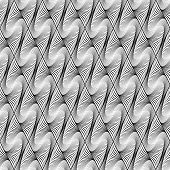 Design Seamless Wave Diamond Geometric Pattern